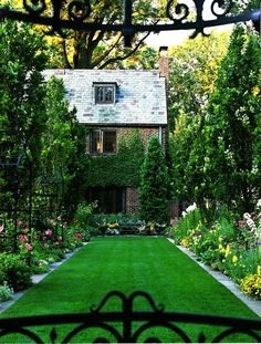 just lovely, cozy yard
