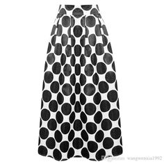 Fashion 2017 New Casual Party Office Spring Summer Polka Dots Flare Tutu Circle Pleated Long Maxi Skirt Vintage 1950s 60s Rockabilly Skirts Pleated Skirt For Girl Women Skirt Plus Size Polka Dots Skirt Online with $21.14/Piece on Wangwenxia1992's Store | DHgate.com