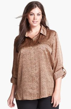 Anne Klein Print Shirt (Plus Size) available at #Nordstrom