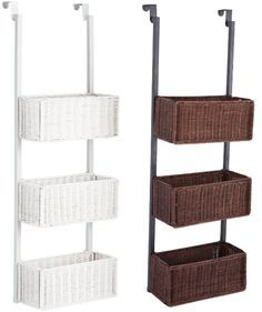 Over the door storage baskets...link also includes site to purchase other over the door storage for pantry, cabinets, and more.