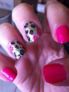 Betsy Johnson inspired nail art