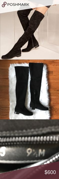 Stuart Weitzman Hilo Over The Knee Boots NWT New with tags Stuart Weitzman Over the knee Hilo Boots in black. Stretch suede/Rubber Sole. Will ship in box photo'd, not purchased with Stuart Weitzman box. Open to reasonable offers 💕💕 Stuart Weitzman Shoes Over the Knee Boots