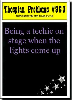 Blame the techie working the lights.<--- good point