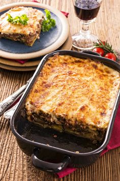 Moussaka, Charcuterie, Lasagna, Food And Drink, Ethnic Recipes, Lunch, Cooking, Eggplants, Alternative