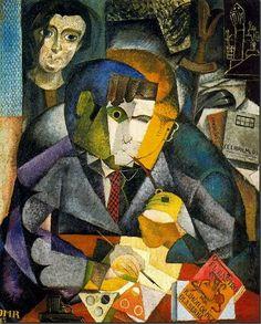 """Diego Rivera """"Rivera Retrato de Ramon Gomez de la Serna"""""""