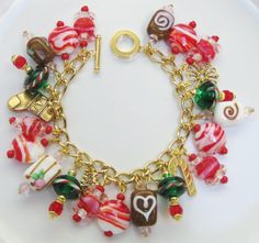 My Handcrafted Holiday/Christmas Charm Bracelet (5)