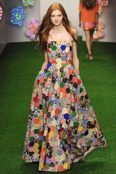 Jasper Conran SS13 - patchwork dress