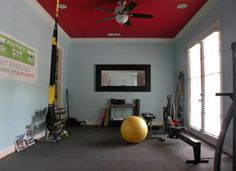 """<body> <p> Why sign up at a gym when you can roll out of bed and work out instead? Homeowner Mallory Dubuclet converted an underutilized dining room into an <a rel=""""nofollow"""" href="""" http://www.bobvila.com/articles/diy-gym/#.VVoHPo5Viko?bv=yahoo"""" title=""""http://www.bobvila.com/articles/diy-gym/#.VVoHPo5Viko"""" target=""""_blank"""">fitness room</a> by laying foam mat over the flooring, attaching TRX straps, and bringing in free weights and other workout equipment. Now the at-home setup offers the…"""