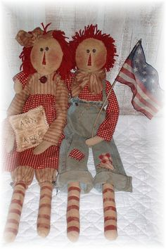 Primitive+Raggedy+Ann+and+Andy+Pattern+by+PrindleMountainPrims,+$6.99