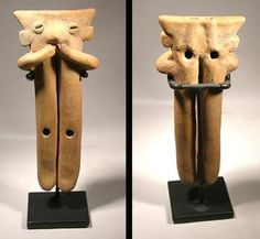 Colima Flute — West Mexico 200 BC - 200 AD Other Ceramic Musical Instrument