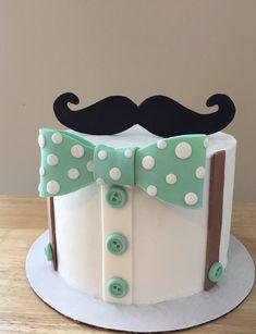 Fondant Cake Designs For Men Birthday Cake For Men Easy, Birthday Cakes For Men, Birthday Cupcakes, Fondant Cake Designs, Fondant Toppers, Fondant Cakes, Moustache Cake, Little Man Cakes, Cake Design For Men