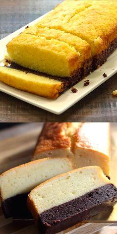 Brownie Butter Cake - Rich brownie and butter cake in a cake. Sinfully delicio- Brownie Butter Cake – Reicher Brownie und Butterkuchen in einem Kuchen. Sinfully delicio Brownie Butter Cake – Rich Brownie and Buttercake … - No Bake Desserts, Just Desserts, Delicious Desserts, Dessert Recipes, Yummy Food, Baking Desserts, Baking Snacks, Dinner Recipes, Snacks Recipes