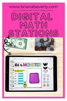 Math center organization and set up from the distance learning or in-person classroom. This math station rotation chart is perfect for creating a routine during your math block at the beginning of the year. You can also get this set in a digital template for the virtual classroom. Great for 2nd grade, 3rd grade, 1st grade, or 4th grade. Math Journal Prompts, Math Journals, Math Enrichment, Fun Math Activities, Math Stations, Math Centers, Math Center Organization, Math Blocks, Primary Resources