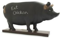 Chalkboard Pig ...easy to do with a concrete pig!!