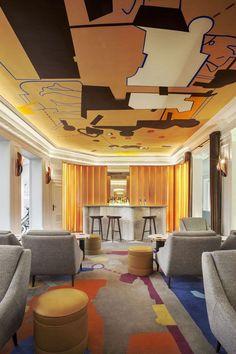 ★★巴黎韦尔内酒店 Hotel-设计红黄蓝