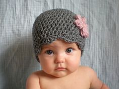 PATTERN:  Lolo Hat- Easy Crochet PDF, Size NB- Adult, scalloped flower beanie, headband & corsage, InStAnT DoWnLoad, Permission to Sell on Etsy, $4.99  @Loretta Camacho