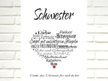 """Kunstdruck  """"SCHWESTER"""" Herz"""