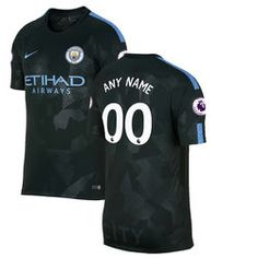 Manchester City Nike 2016/17 Home Replica Custom Patch Jersey - Blue