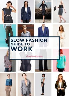 Elise Epp / slow fashion guide to work