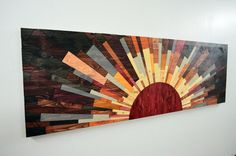 wood wall art 60x20 Edge Of The Day wooden wall