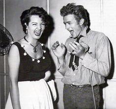 James Dean and Sara Montiel