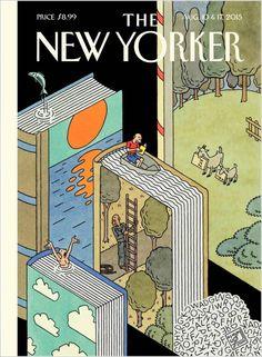 """Portada """"The New Yorker"""": """"Es verano, vacaciones... sumérgete en un libro""""."""