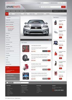 Car Spares #CSS3 #HTML5 #JQuery & #Responsive #Magento Theme #41594