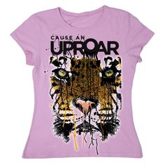 $20 Women's ''Cause An Uproar'' Tiger T-Shirt | National Geographic Store