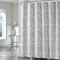 J Queen New YorkTM Mika Shower Curtain In Sea Foam