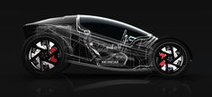 The Zeleritas electric racing concept by designer Willie Tay combines current & future driving technologies with hard styling into a single passenger roadster with a straight-from-the-track
