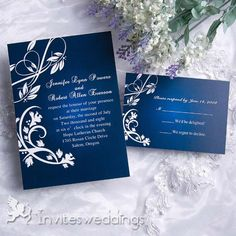 Charming Gradient Blue Wedding Invitation IWI073 $1