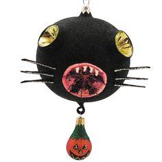 Larry Fraga Hissy Fit Kitty 5966 Halloween Ornament Black Cat New | eBay