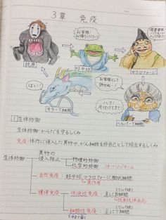 【86,000RT】ノートの『千と千尋の神隠し』の落書きがすごいwww 湯婆婆がヘルパーT細胞でハクがキラーT細胞wwwwww Personajes Studio Ghibli, Sinchan Cartoon, Funny Cute, Hilarious, Cool Pictures, Funny Pictures, Japanese Funny, Fan Anime, Aesthetic Gif