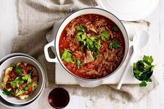 Rich lamb ragu with red wine and herbs