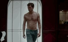 "That's more like it. | Christian Grey Strips Down In The New ""Fifty Shades Of Grey"" Trailer - The jeans, the jeans!!!"