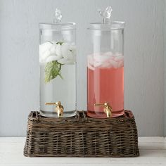 Perching Pair Beverage Dispenser in New Trending Party Perfect at Terrain