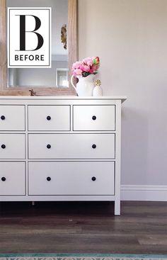 Before & After: An IKEA Hemnes Dresser Glams Up