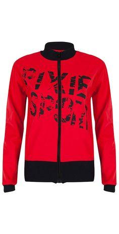 Sportjack PIXIE SPORT in Rood zwart | Gemaakt van ademende Supplex