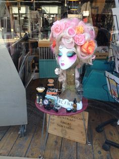 Blink Makeup Studio window display. Amazing makeup and skincare products!