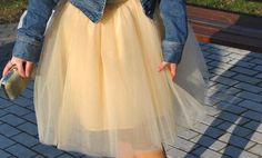 MUSZKA : Fabulous look with tulle.