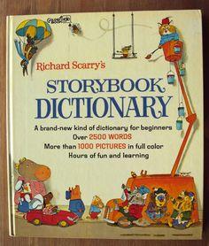Richard Scarry Storybook Dictionary, I love Richard Scarry! Richard Scarry, Ladybird Books, Vintage Children's Books, Antique Books, Vintage Toys, Little Golden Books, Alter, Good Books, Big Books