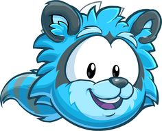 club penguin puffle wild app | Third Blue Puffle Creature One of four Raccoon Puffles