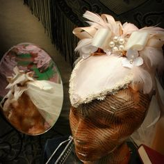 The June Bride by The Sisters Brimm   #millinery #hats #HatAcademy