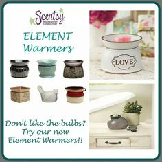 Don't like the #bulbs of our original #warmers? Try our #Element warmers! #Scentsy #waxmaam www.waxmaam.com
