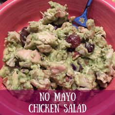 On Monday, I started my 2nd round of the 21 Day Fix Extreme. This Avocado Chicken Salad is perfect for lunch or dinner! It has no mayonnaise in it either so it's 21 Day Fix, Whole 30 and Paleo frie...