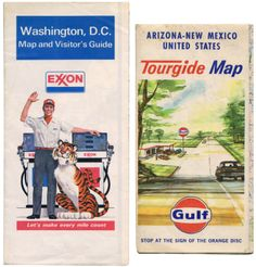 Vintage maps from Exxon and Gulf