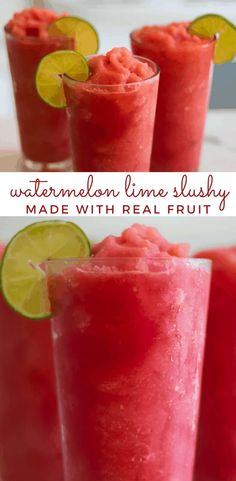 Kids Milkshake Recipes, Protein Shake Recipes, Smoothie Recipes, Watermelon Slushie, Watermelon Mint, Homemade Slushies, Fruit Smoothies, Protein Smoothies, Fruit Popsicles
