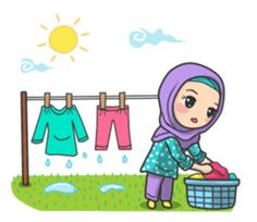Flower Hijab by Imran Ramadhan sticker