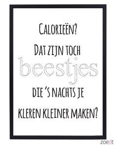 Poster: Calorieen
