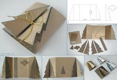 DIY Paper Cardboard Christmas Tree Greeting Card: Make a Handmade Christmas Greeting Card from free template and fold front into Christmas Tree. Homemade Christmas Cards, Christmas Greeting Cards, Christmas Greetings, Simple Christmas, Homemade Cards, Handmade Christmas, Holiday Cards, Christmas Diy, 3d Christmas Tree Card